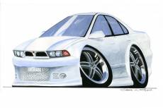 Caricature of a Mitsubishi Galant  » Click to zoom ->